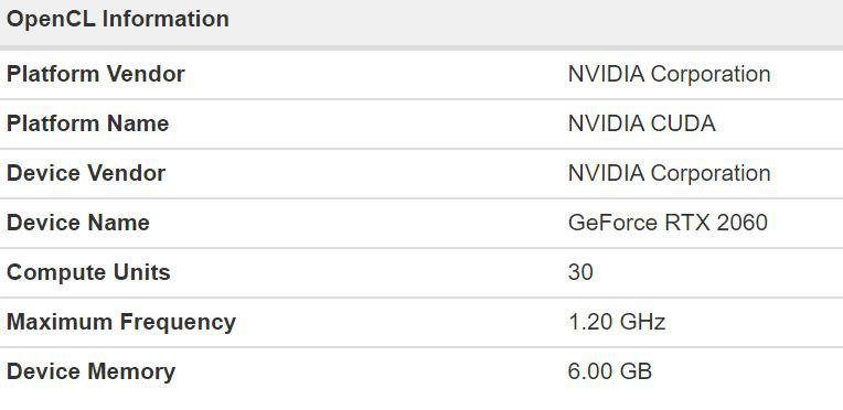 Spesifikasi nvidia geforce rtx 2060