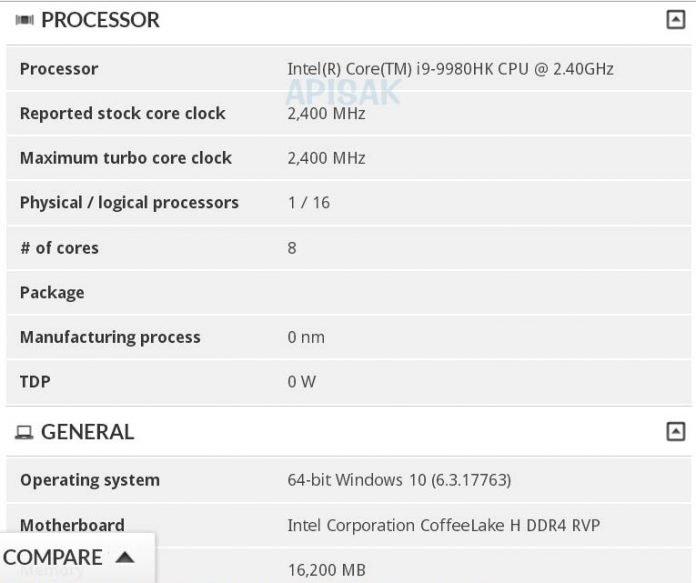 Core i9-9980HK